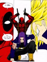 Trunks vs. Deadpool by xXTrunks-BriefsxX