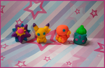 Chibi-Charms: Pokemon Erasers by MandyPandaa