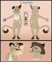 Commission - Casper Reference Sheet by MiaMaha