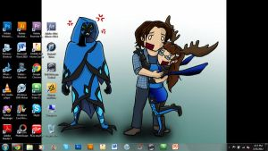 My awesome desktop XD by TheDocRoach
