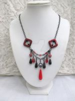 Queen of Spades OOAK Beaded Statement Necklace by TanzenLilly