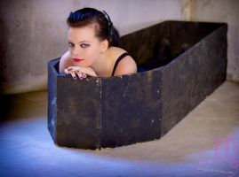 Melanie and Coffin 01 by photographs-by-day