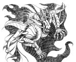 Final Fantasy II - Hell Emperor (Line Drawing) by SoulStryder210