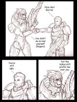 Giving Garrus a fist bump by shumworld