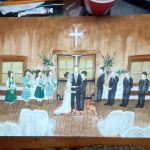 Sister Wedding Painting by Sheltie2b