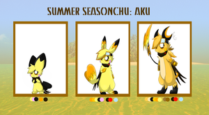 Aku Evolution Refrence by pichu-berry