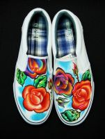Hand Painted Shoes Sneakers Flats Slip On's by RighteousRebelz