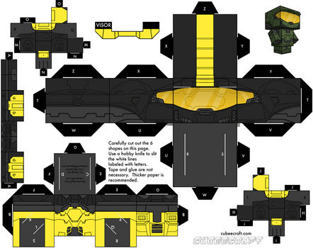 Black and yellow Master Chief by dominicclay123