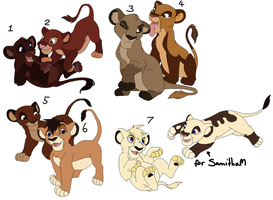 Lion Cub Adoptables CLOSED by MikasAdoptables