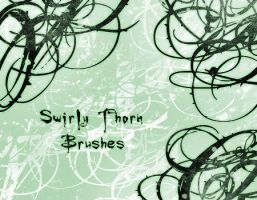 Swirly Thorn Brushes by raspberrylemonade