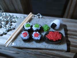 Sushi Tray Necklace by Saint-chan
