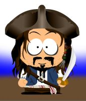 Jack sparrow Southpark by marty-mclfy