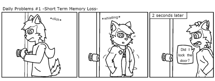 Daily Problems -Short Term Memory Loss- by SesshaXIII
