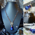 Steampunk Mana Potion Necklace by random-wish