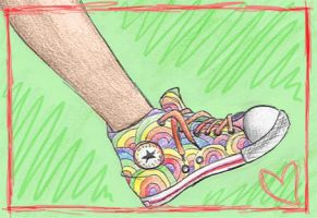 rainbow shoes 8D by iscaylis