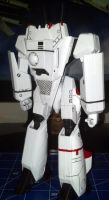 1/72 scale Bandai Macross model kit almost done by TribalBunny13