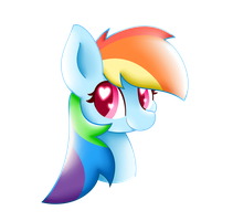 Rainbow Dash Hearts You by HungrySohma16