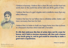 What I believe... by Helen Gardener by rationalhub