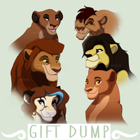 Lion Headshots Gift Dump 1 by EyesInTheDark666