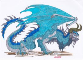 More Dragon lineart coloured by Dragon-princess08