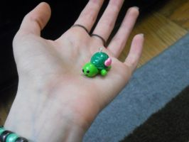 Turtle Polymer Clay Charm by ResurrectedVampire69