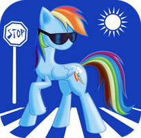 Rainbow 'Cool Shades' Dash by ShadeFox