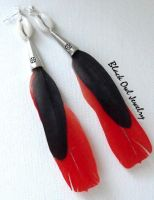 African Parrot Feather earring by IdolRebel