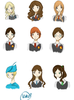 Harry Potter Faces by yuki225