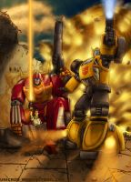Hotrod and Bumblebee by UNICRON-WMD