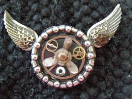 Airship Captain's Brooch by LadyNightHawk