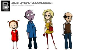 My Pet Zombie character lineup by boybogart
