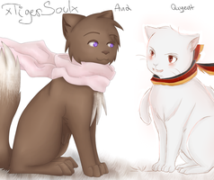 Hetalia - Russia cat and Prussia cat by QuyenT