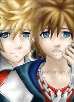 Sora and Roxas KH2 by Kawaii-Ash