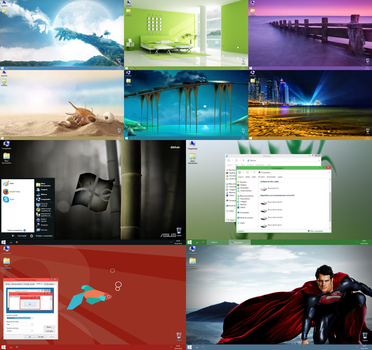 Windows 8.1 XP Theme All Colors v2 by MagicMaker10