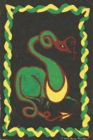 4 Color Block Print Dragon1 by Jenny42