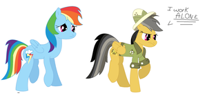 Daring Do and Rainbow Dash by coolmlpfangirl450
