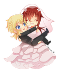 -- Chibi couple commission for Xx-Misericorde 04 - by Kurama-chan