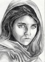 Afghan Girl (Sharbat Gula) by topistops