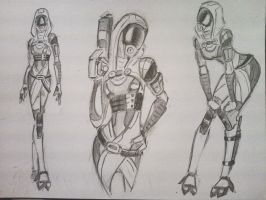 sketches Tali (12) by spaceMAXmarine