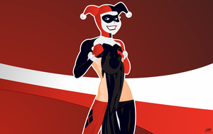 Harley Quinn with a souvenir by jb-online
