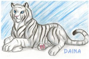White tiger by TigresaDaina