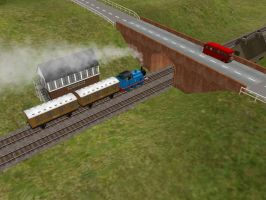 Thomas and Bertie pass each other by BramGroatonDA