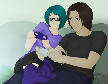 Alanna and her boo thang? [Commission] by Lily5432