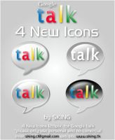 4 New Icons for Google Talk by skingcito