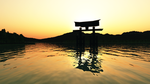 Miyajima Sunset Japan Wallpaper by Vuenick