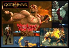 SSF4:AE MOD SAGAT KRATOS by arleklown