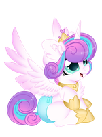 Princess Flurry Heart (Quick draw) by Silent-Shadow-Wolf
