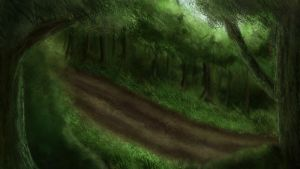 Speedpaint Forest 01 by Kitsumeo
