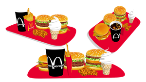 [MMD] McDonald's food by ScarlettAckerman