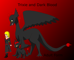 Trixie and Dark blood Ref sheet by HeroHeart001
